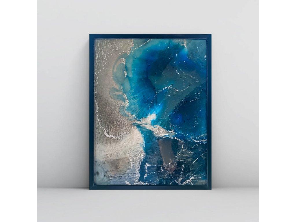 Blue windy land