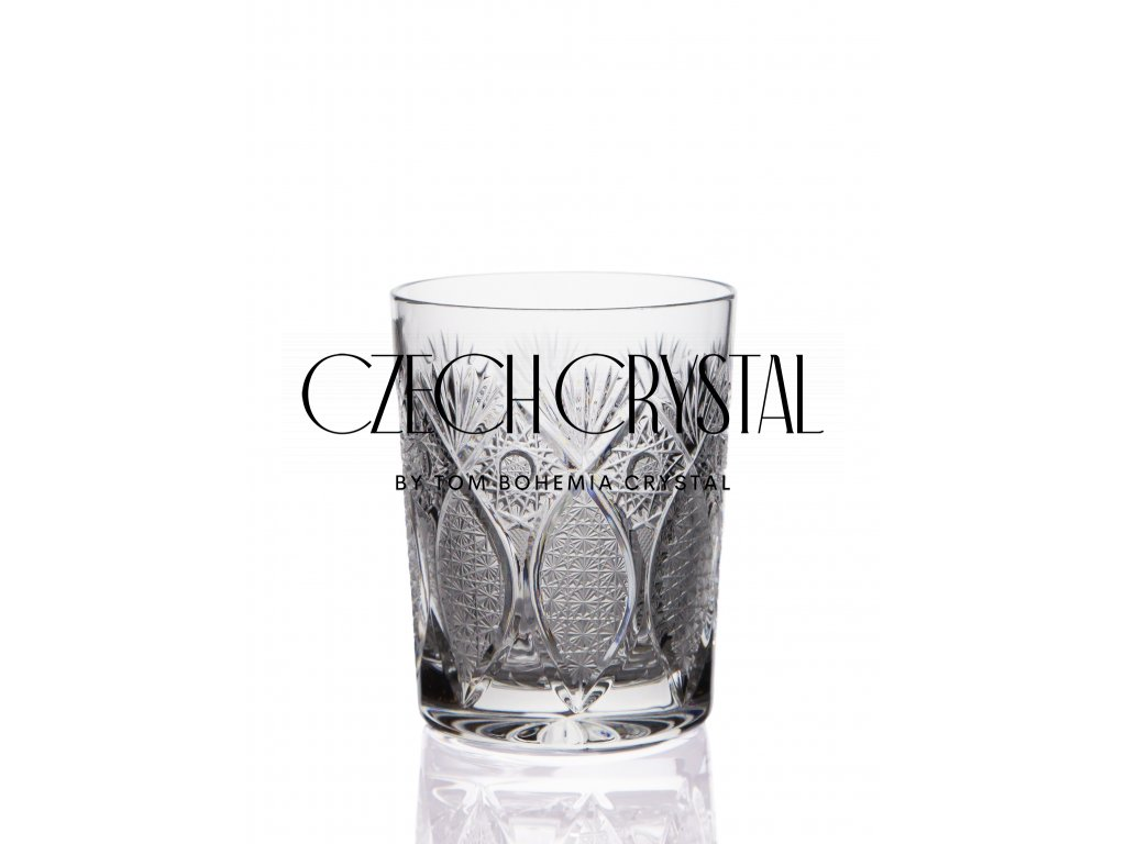 Conical whiskey glass - Peacock butterfly (340 ml)