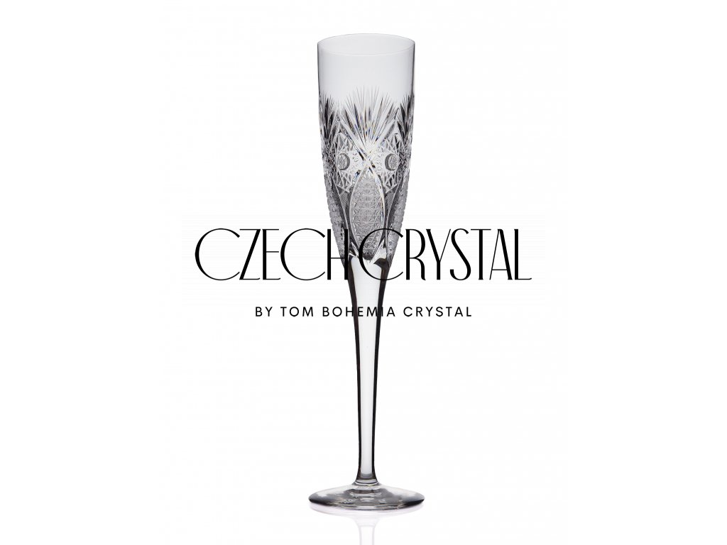 Champagne flute - Peacock butterfly (185 ml)