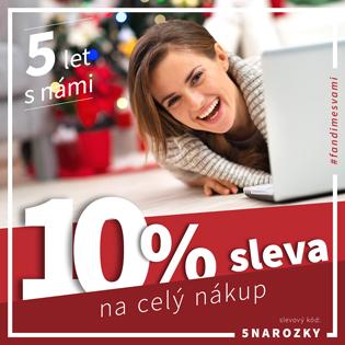 Oslavte s námi 5. výročí s 10% slevou na celý nákup