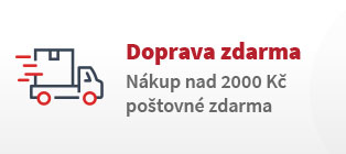 Doprava zdarma | Nákup nad 2000 Kč poštovné zdarma