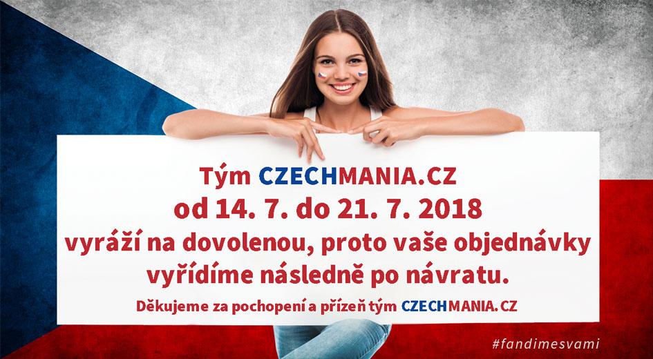 Tým CZECHMANIA.CZ od 14. 7. do 21. 7. 2018 vyráží na dovolenou.