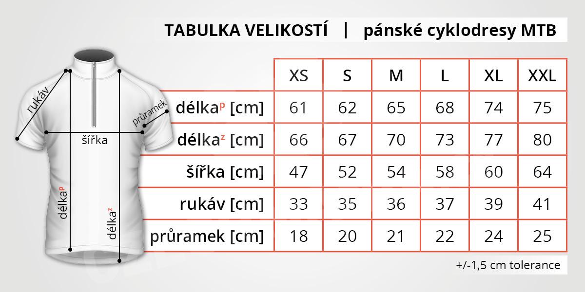 tabulka_velikosti_panske_cyklodresy_mtb