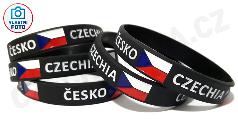 silikonovy_naramek_czechia_fotka
