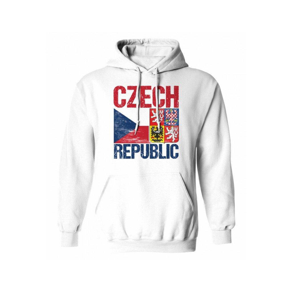hoodie man czech flag emblem