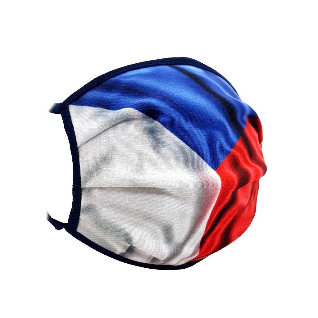 Rouška s českou vlajkou – bavlněná 2 vrstvá