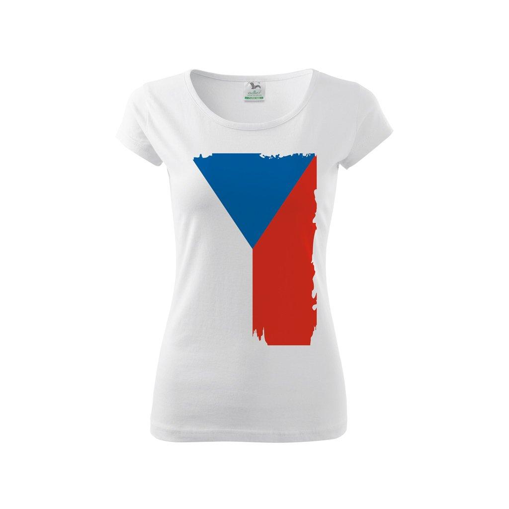 tshirt woman white flag