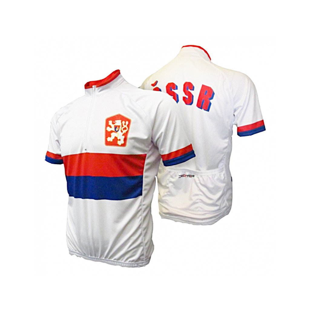 cycling jersey cssr white