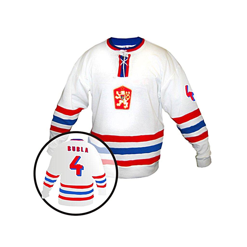 hokejovy dres cssr bily
