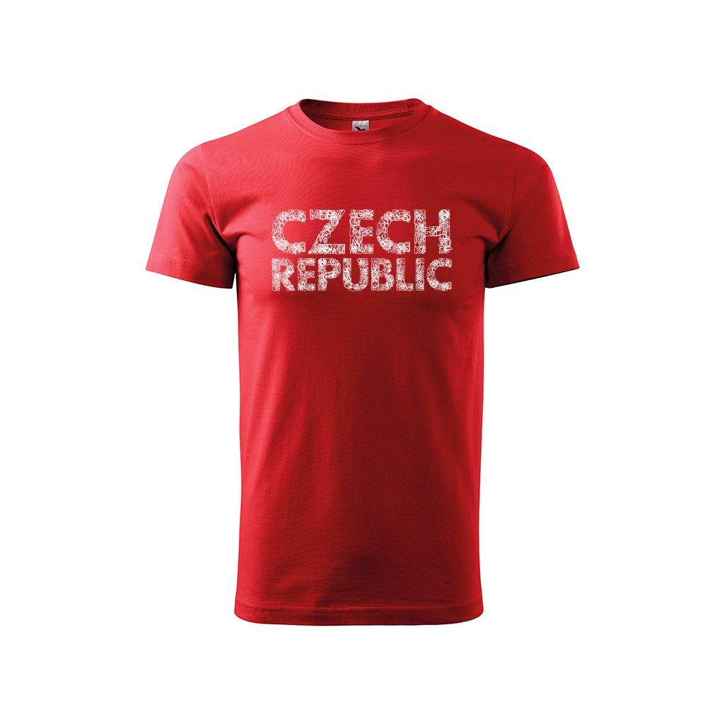tshirt man red czech republic