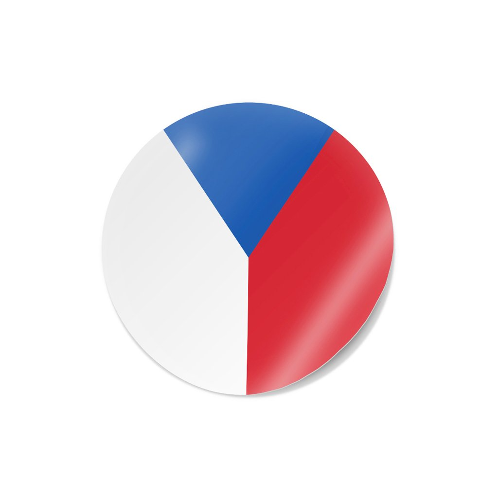 samolepka vlajka cr kolecko s mala