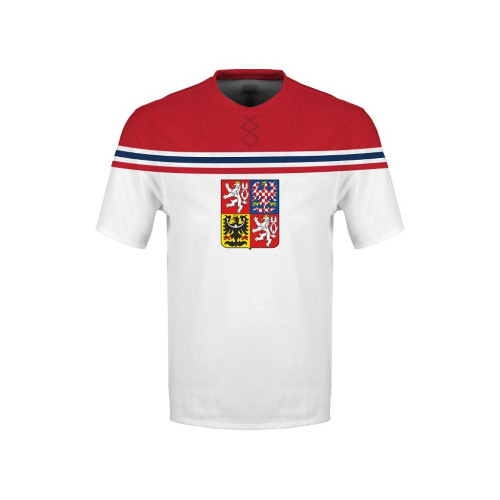 tshirt man white czech hockey emblem subli