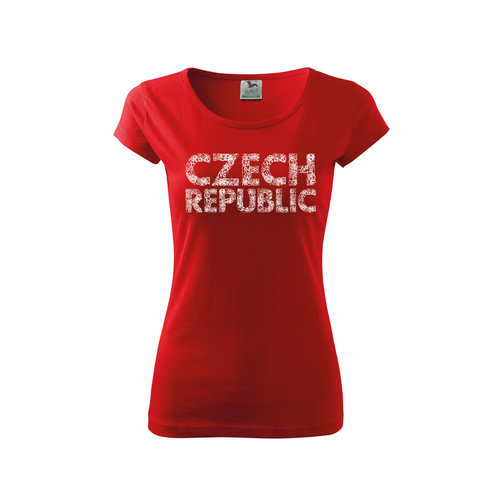 tshirt woman red czech republic