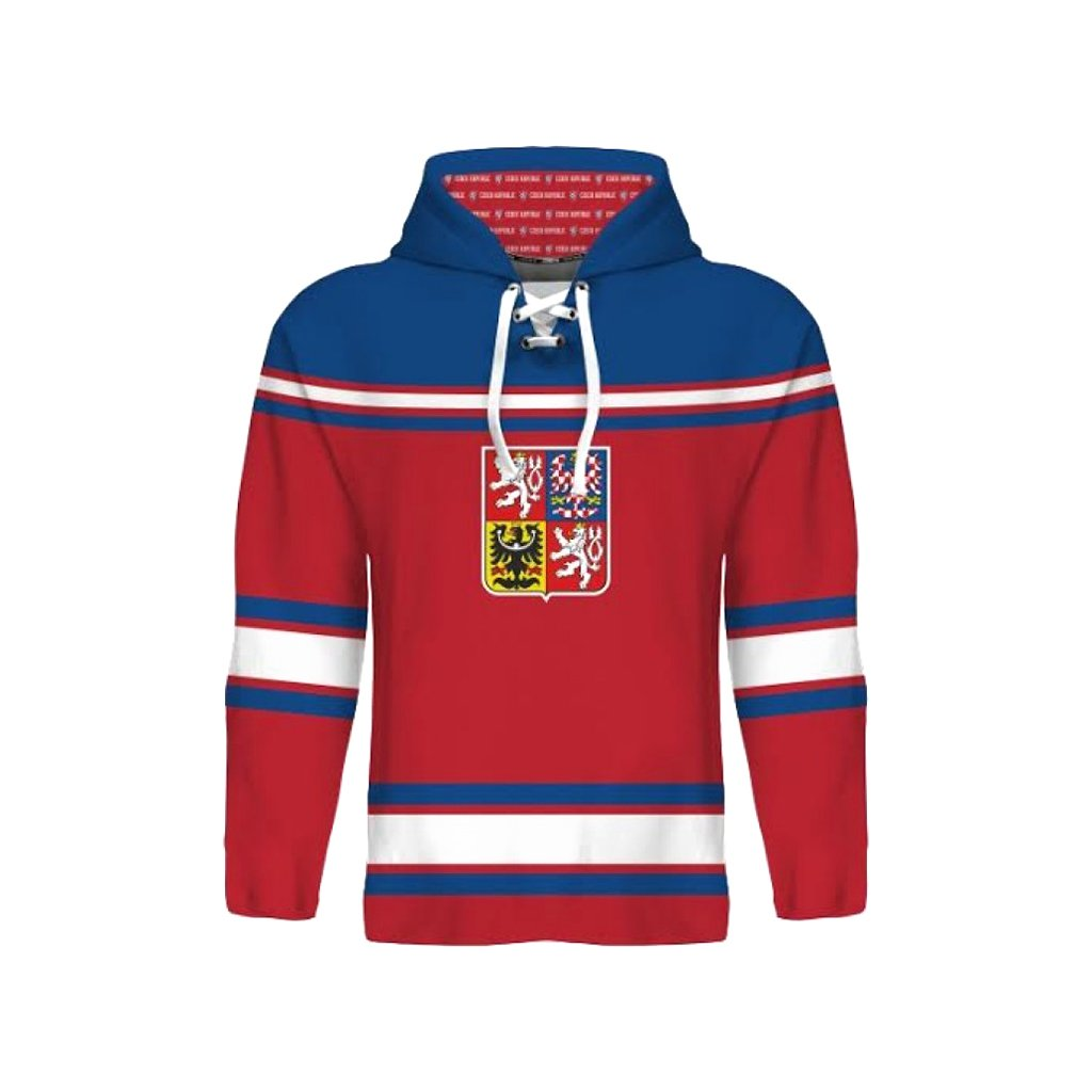 mikina czech hockey cervena
