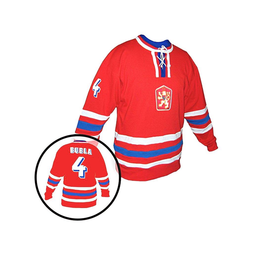 hokejovy dres cssr cerveny