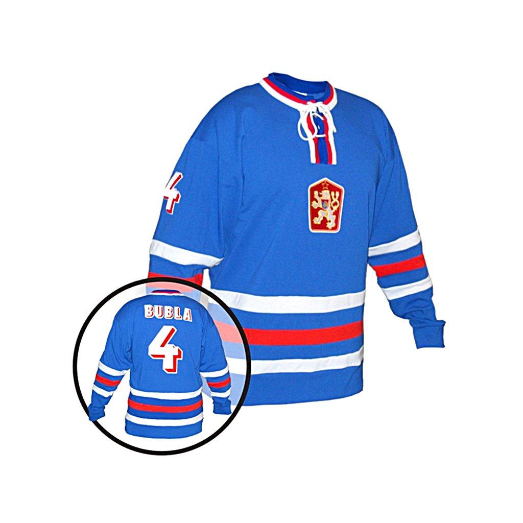 hokejovy dres cssr modry