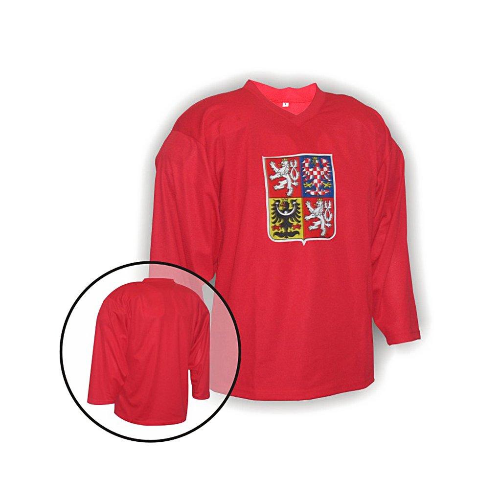 hokejovy treninkovy dres cr cerveny