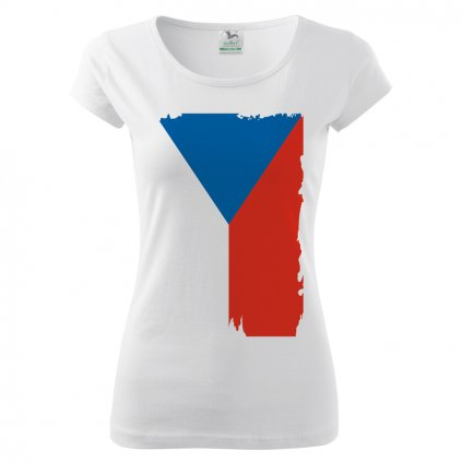 tshirt woman white flag