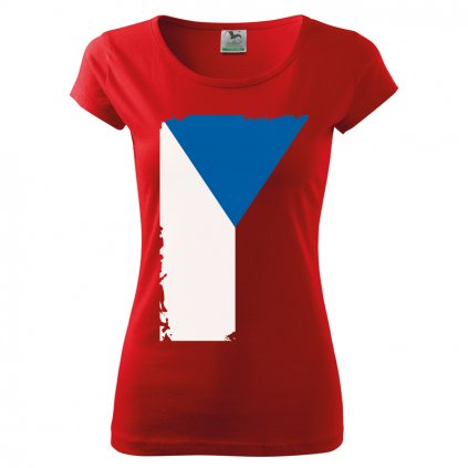 tshirt woman red flag
