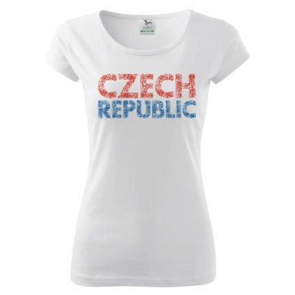 tshirt woman white czech republic