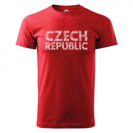 tshirt man red czech republic