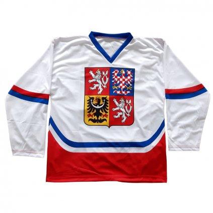 Hokejový dres ČR – bílý
