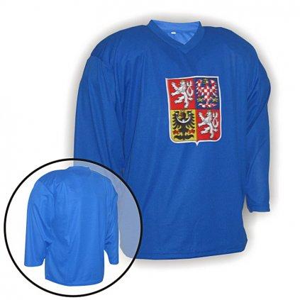 hokejovy treninkovy dres cr modry
