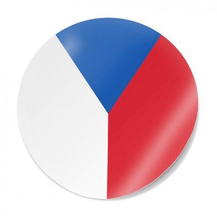 samolepka vlajka cr kolecko s