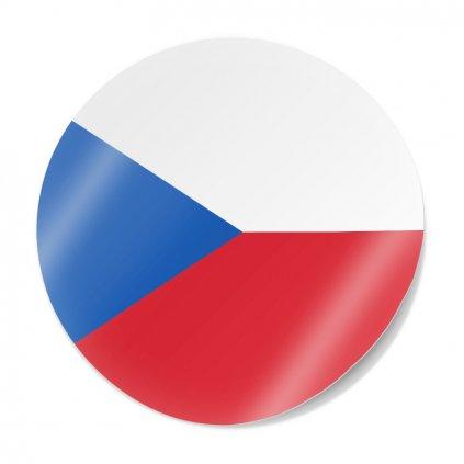 samolepka vlajka cr kolecko