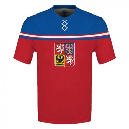 tshirt man red czech hockey emblem subli