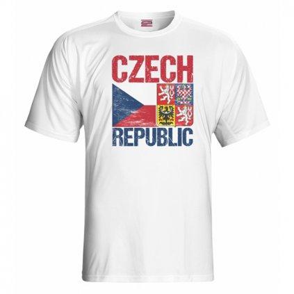tshirt man czech flag emblem