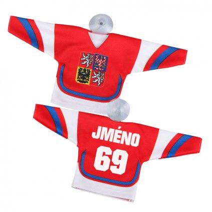 Hokejový minidres červený