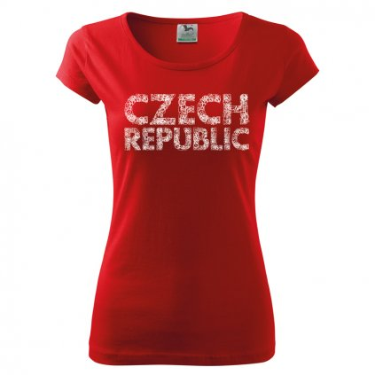 tshirt woman red czech republic