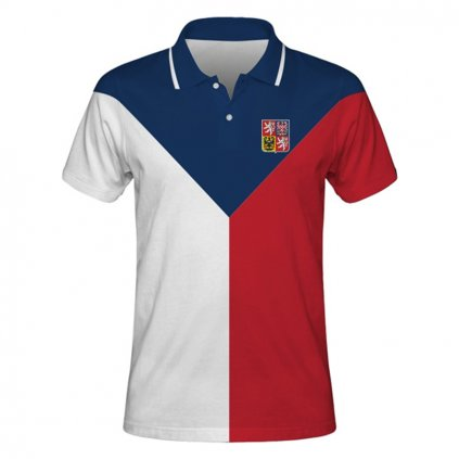 polo man czech hockey flag front