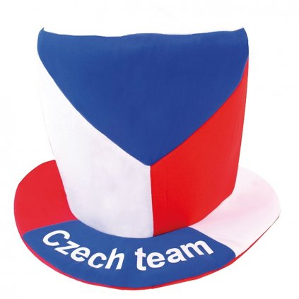 Klobouk CZECH REPUBLIC cylindr vlajka