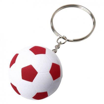 Přívěšek na klíče fotbalový míč – červený