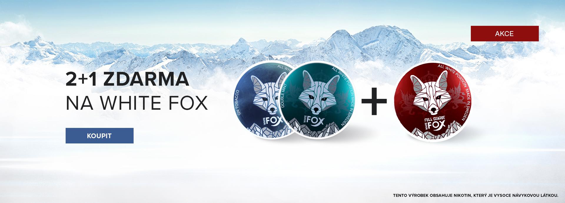 WHITE FOX 2+1 zdarma