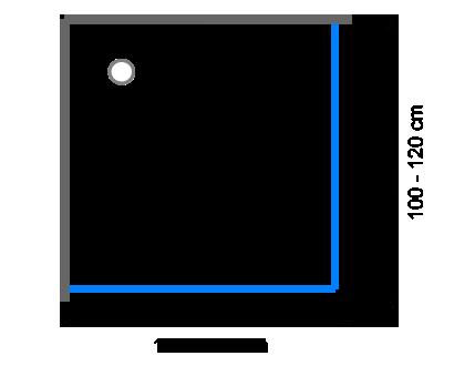 Čtvercové sprchové kouty 100 -120 cm