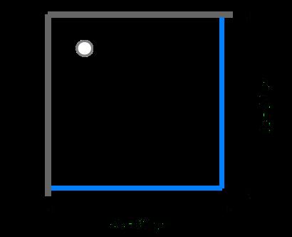 Čtvercové sprchové kouty 85 - 90 cm