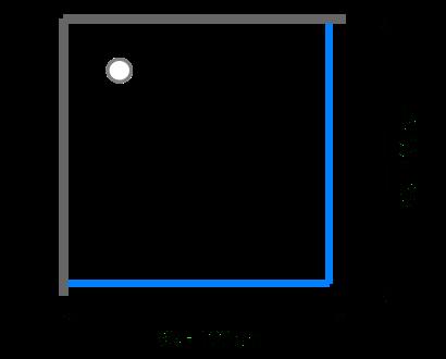 Čtvercové sprchové kouty 95 - 100 cm