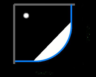 Čtvrtkruhové sprchové kouty 75 - 80 cm