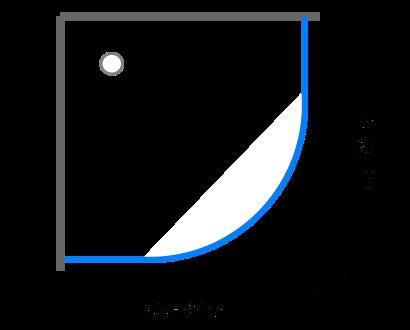 Čtvrtkruhové sprchové kouty 85 - 90 cm