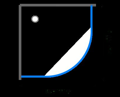 Čtvrtkruhové sprchové kouty 95 - 100 cm