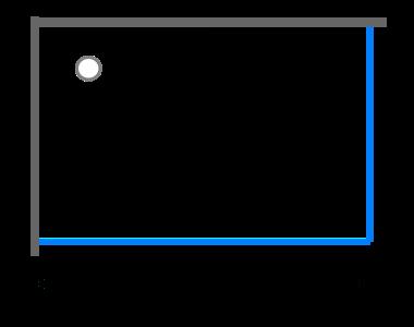 Obdélníkové sprchové kouty 80 - 90 cm