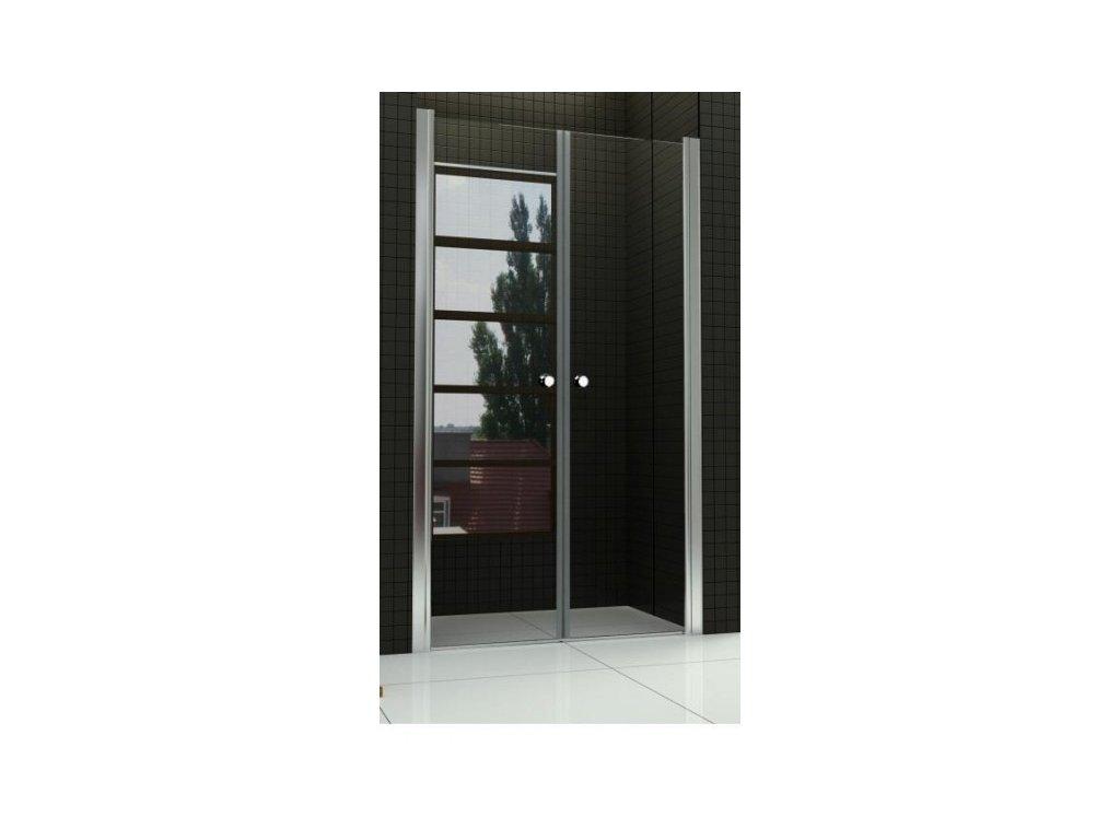 Sprchové dveře do niky WEST 90 dvoukřídlé 86 - 91 cm čiré sklo s úpravou proti vodnímu kameni-czkoupelna