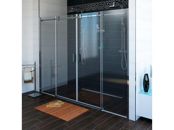 DRAGON sprchové dveře 1800mm, čiré sklo   czkoupelna.cz