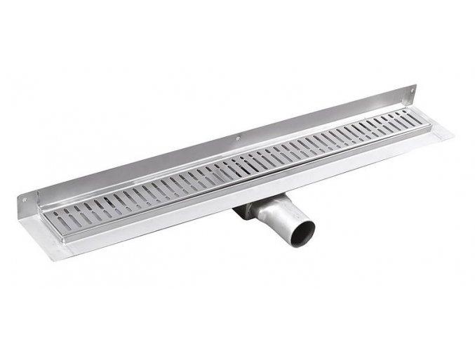 MANUS ONDA nerezový sprchový kanálek s roštem,ke zdi, 650x112x55mm   czkoupelna