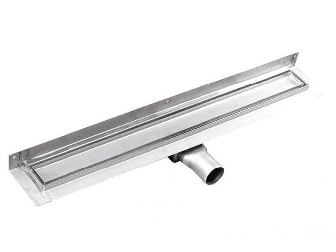 MANUS PIASTRA nerez sprchový kanálek s roštem pro dlažbu, ke zdi, 750x112x55 mm | czkoupelna
