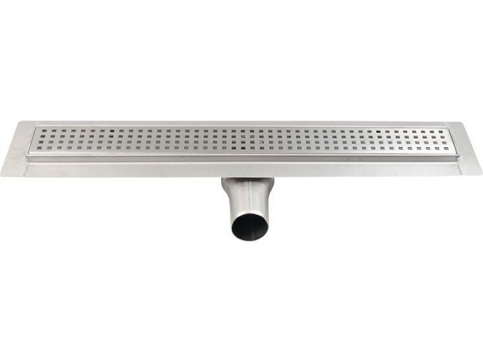 MANUS QUADRO nerezový sprchový kanálek s roštem, 1150x130x55 mm | czkoupelna