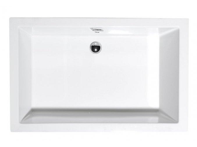 DEEP hluboká sprchová vanička, obdélník 120x75x26cm, bílá
